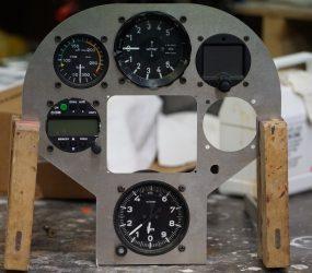 Testmontage LS4 Instrumentenbrett