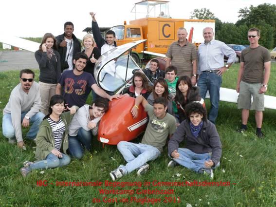 Gruppenbild der Workcamper